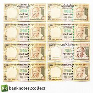 INDIA: 15 x 500 Indian Rupee Banknotes.