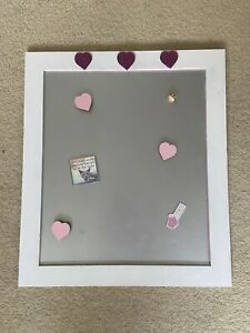 Girls Magnetic Notice Board INCLUDING Extra Magnets