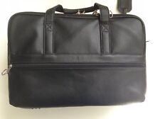Men's Winslow Black Satchel Spacious Man Bag Purse Faux Imitation Leather