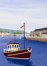 Arte inocente en blanco las tarjetas de felicitación » que enarbolen el pabellón » por Cornish tarjeta de artista e043p