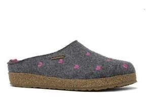 Haflinger Women's Cuoricini Grey Women's Slipper - NEW - Size EU 41 / US 10