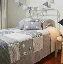 Linens n Things Lachlan Grey Stars Boys Single Bed Bedspread/Coverlet Set