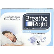 Breathe Right Nasal Strips Sensitive Skin - 10 Large Strips