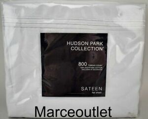 Hudson Park 800 Thread Count Egyptian Cotton KING Flat Sheet Cloud
