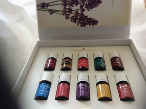 Young Living Boxed 11 x 5ml Oils  Thieves, Frankincense, Panaway, Stress Away…..