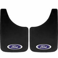 2PC BUILT TOUGH OVAL 11X19 MUD SPLASH GUARDS FLAPS FOR CAR TRUCK SUV for Ford