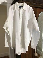 Mens 2xxl Ralph Lauren Pony Button Down White Cotton Long Sleeve Shirt