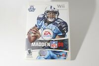 Madden NFL 08 Nintendo Football Video Game Complete W/ Case and Manual