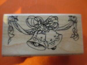 wedding bells wood mtd rubber stamps stampendous