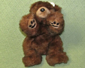 """VINTAGE TY BABY PAWS 11"""" 1996 BROWN BEAR PLUSH RETIRED STUFFED ANIMAL LAYING TOY"""