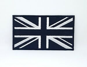 Great British Union Jack Flag Patch Embroidered Iron on Sew On Embroidered