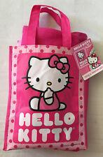 NWT Hello Kitty Pink Fleece Throw Blanket and Tote Set