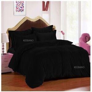 3 PC Black Twin XL Plain Velvet Duvet Cover / Quilt cover/ Comforter cover Set
