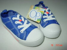 Nwt Toddler Young Boys Op Tennis Shoes Slip on Elastic Shoelaces Blue Summer
