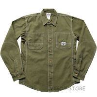 Non Stock Men's Canvas Cargo Shirt Engineer Pocket Casual Button-Down Work Shirt