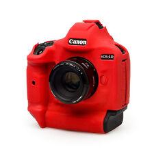 EasyCover Silicona Piel Funda blindada para adaptarse a Cámara Canon 1Dx Mki Mkii DSLR-Rojo