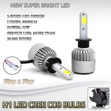 2x Bulbs H1 Fog Light Bright LED Cree Cob 72W White 6500K Peugeot 1007 2005-2009