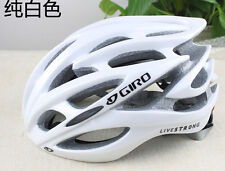 Hot White Giro helmet bicycle road live strong unisex fit 56-62cm