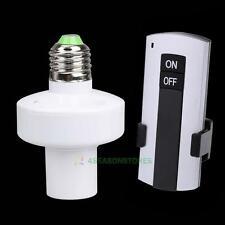 Electronic E27 Remote Controller Light Socket Lamp Holder for House Office SE#N