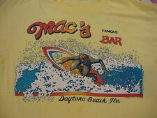 Vintage Mac's Famous Bar Daytona Beach Florida Surfing Surfboard thin T shirt XL
