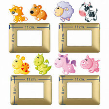 Adesivi interruttori mucca maialino draghetto light switch stickers animals 8 pz