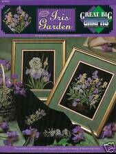 Iris Garden Counted Cross Stitch Pattern 4 designs