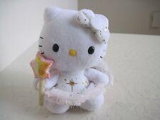 "TY Sanrio HELLO KITTY ANGEL WINGS W/ STAR Holiday Plush Stuffed Animal 6"""