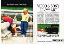 PUBLICITE ADVERTISING   1986    SONY   Caméscope CCD V 3 caméra (2 pages)