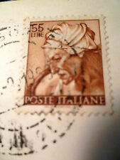 1968 Poste Italiane 55 LIRE TIMBRO + cartolina