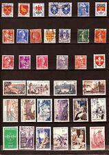 PR62 FRANCE 35 timbres oblitérés, faciale en ancien Fr avant 1961 .Sujets divers
