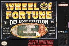 Wheel of Fortune -- Deluxe Edition (Super Nintendo, 1993) Game Only