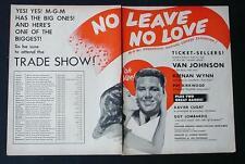 MEGA-RARE 1946 LEAVE NO LOVE PROMOTIONAL MOVIE TRADE AD VAN JOHNSON KEENAN WYNN