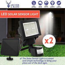 2 x LED Solar Sensor Light Garden Flood Outdoor Security Light Motion Detection