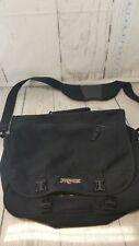 JanSport Black Book Messenger Laptop Tablet Bag Adjustable Shoulder Strap