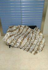 Luxury White Lynx Fur Throw 100% Real Lynx Blanket / Bedspread