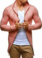Leif Nelson Men's Zipped Hoodie Pullover Hood Stylish Longsleeve Slim Fit  XL.