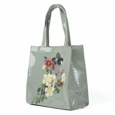Ted Baker PVC Grey Clear Small Icon SHOPPER Bag Pistachio Lylecon