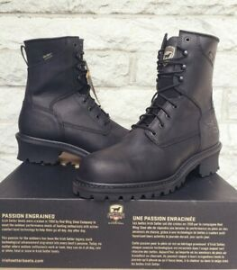 "Red Wing Irish Setter Mens 8"" Mesabi Steel Toe Work Boots Sz 10 EE Black 83836"