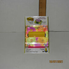 Brand New 3m Post It Decorative Floral Pop Up Note Dispenser Lucite Weighted