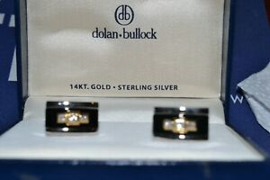 14 KT MENS GOLD,SLIVER WITH DIAMONS CUFFLINK