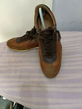 Pantofola D'Oro Teramo Mens Brown Mix Leather/Suede Low Top Sneakers UK 9/EU 43