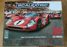 Scalextric C3892A 1967 Le Mans Triple Pack Ford & Ferrari Ltd Edition of 2000