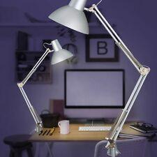 Schreibtischlampe Klemmleuchte Leselampe Bürolampe Tischlampe Tischleuchte grau