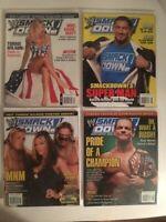 Lot of 4 WWE SmackDown! Magazine 2005 Jul Aug Sept Oct Torrie Batista MNM Benoit