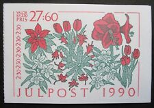 Sweden 1990 Christmas Booklet (Flowers). MNH.