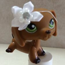 Littlest Pet Shop Dachshund Dog 139 Green Eyes Brown Puppy SHIPS FREE - 9 pics