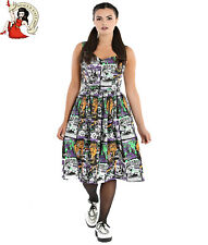 Hell Bunny Be Afraid 50s Dress B-Movie Alternative Halloween