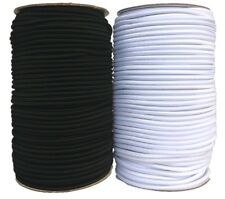Round Elastic Cord Black / White, Hat, Face Masks, Beading, Crafts 1mm/2mm/3mm
