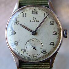 MEN'S WWII PERIOD military OMEGA good condition STEEL WRISTWATCH 1945