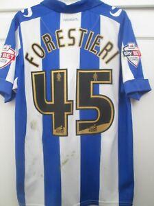 2015-2016 Match Worn Forestieri Sheffield Wednesday Home Football Shirt /45075